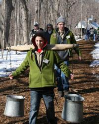 Volunteers at Maple Sugar Time