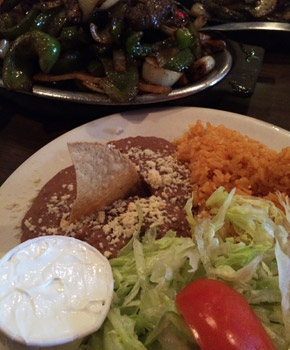 Fajitas and fixings at El Taco Real