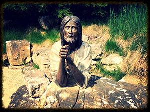 Jesus praying at the Shrine