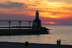 Michigan City Lighthouse and Pier