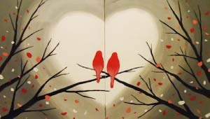 Love Birds Partner Painting