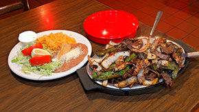 Steak fajitas from El Taco Real, Hammond