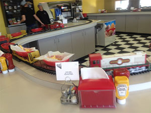 Tyler's Tender Restaurant Schererville train at the counter
