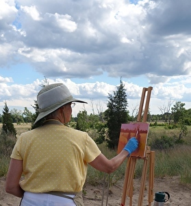 Painting in the dunes