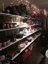 Shelves full of goodies