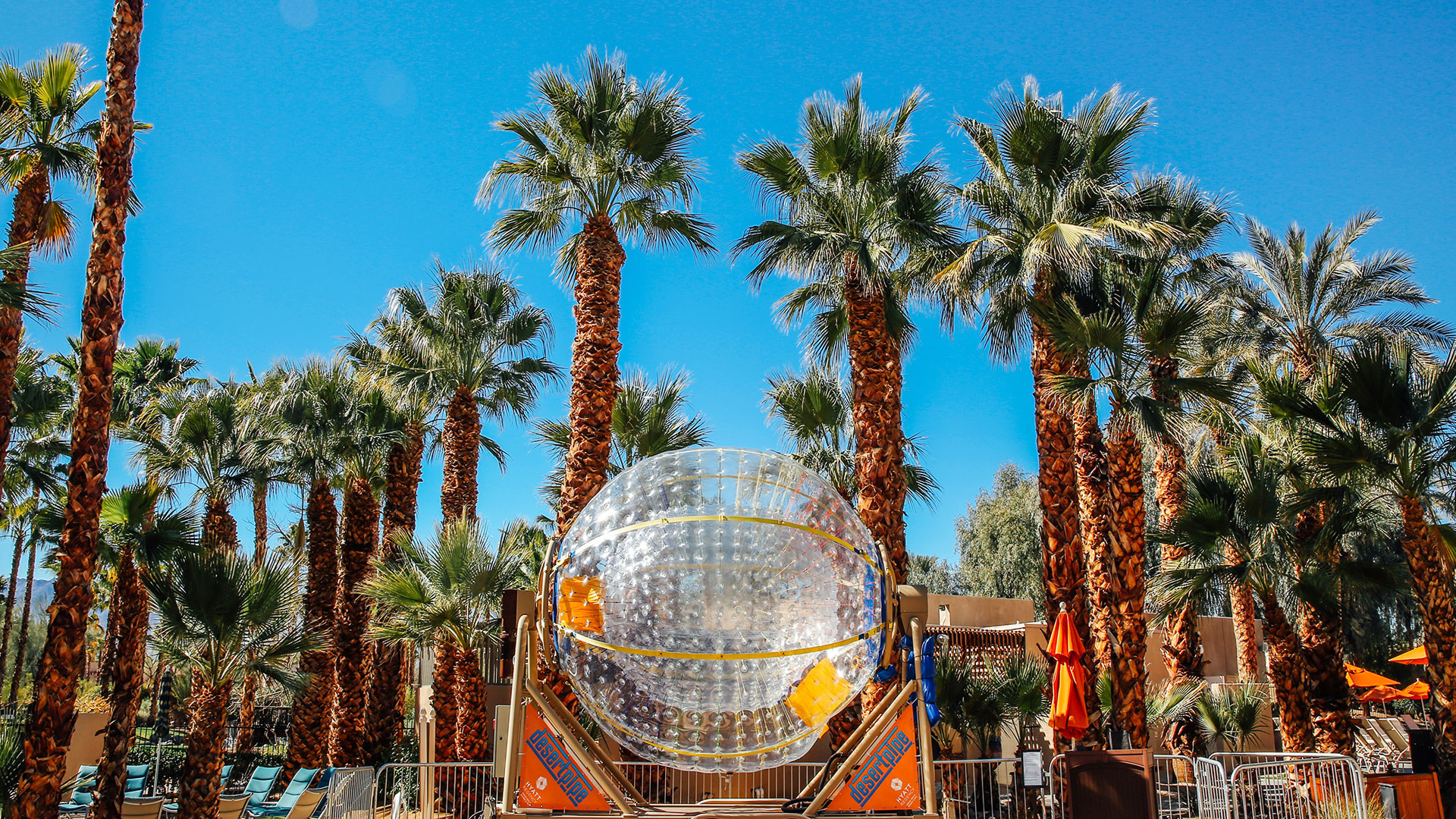 Have a ball inside DesertPipe at Hyatt Regency Indian Wells
