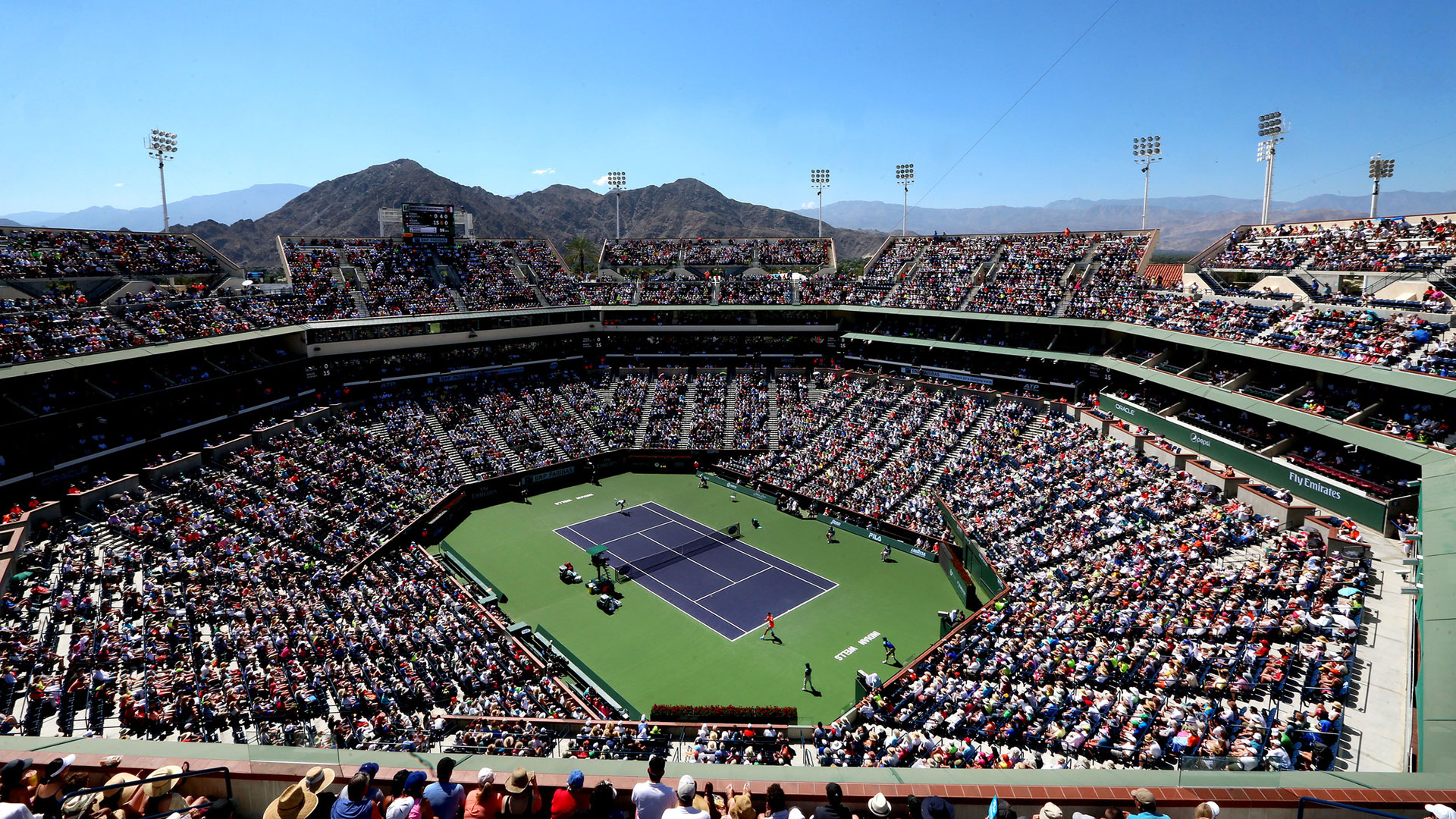 the stadium during the BNP Paribas
