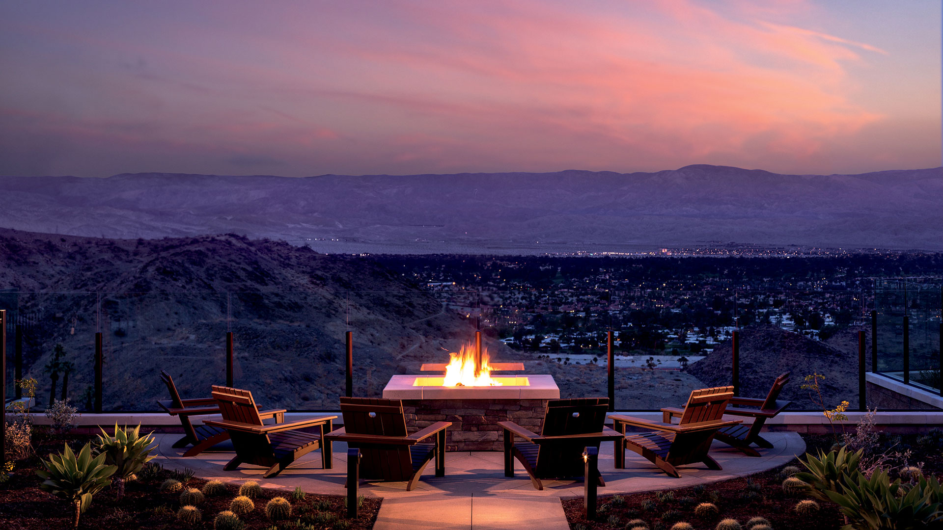 sunset at the ritz-carlton rancho mirage