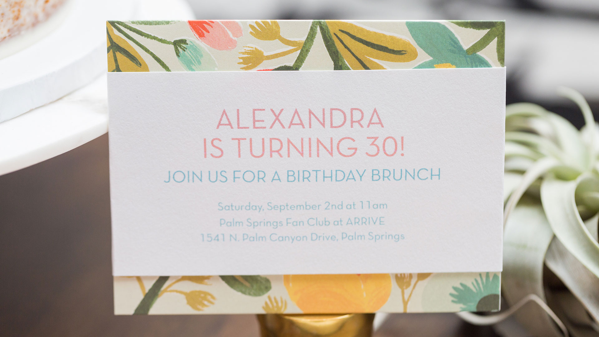 greater palm springs birthday invitations