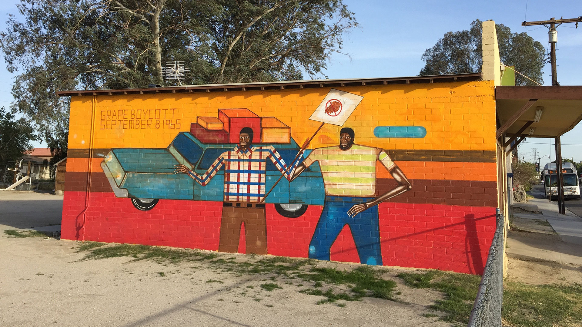 The Farm Workers mural in Coachella