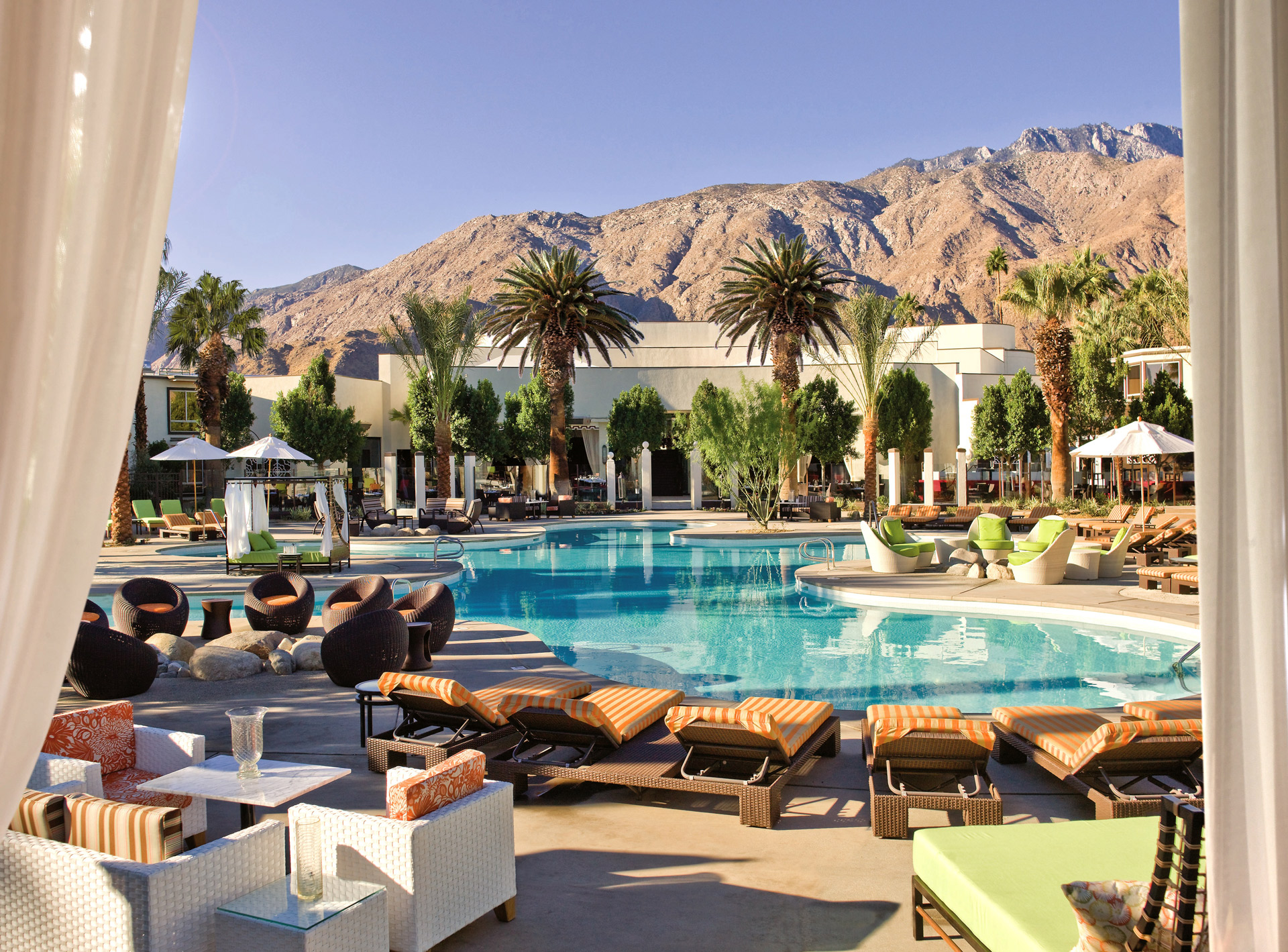 ... daybeds are plush poolside beds for ultra comfort. Cabanas require a minimum $1000 food and beverage spend on weekends while daybeds require minimum ... & Best VIP Pool Cabanas in Greater Palm Springs