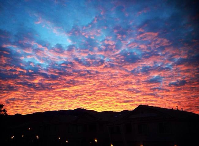 Albuquerque sunrise over the Sandias courtesy of Alison Forrester