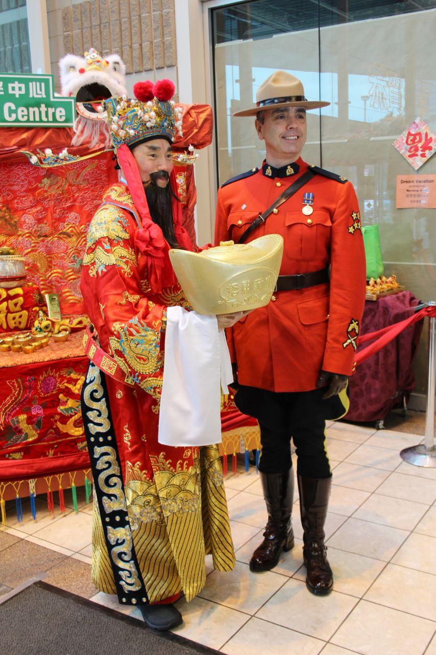 God of Fortune with a Mountie