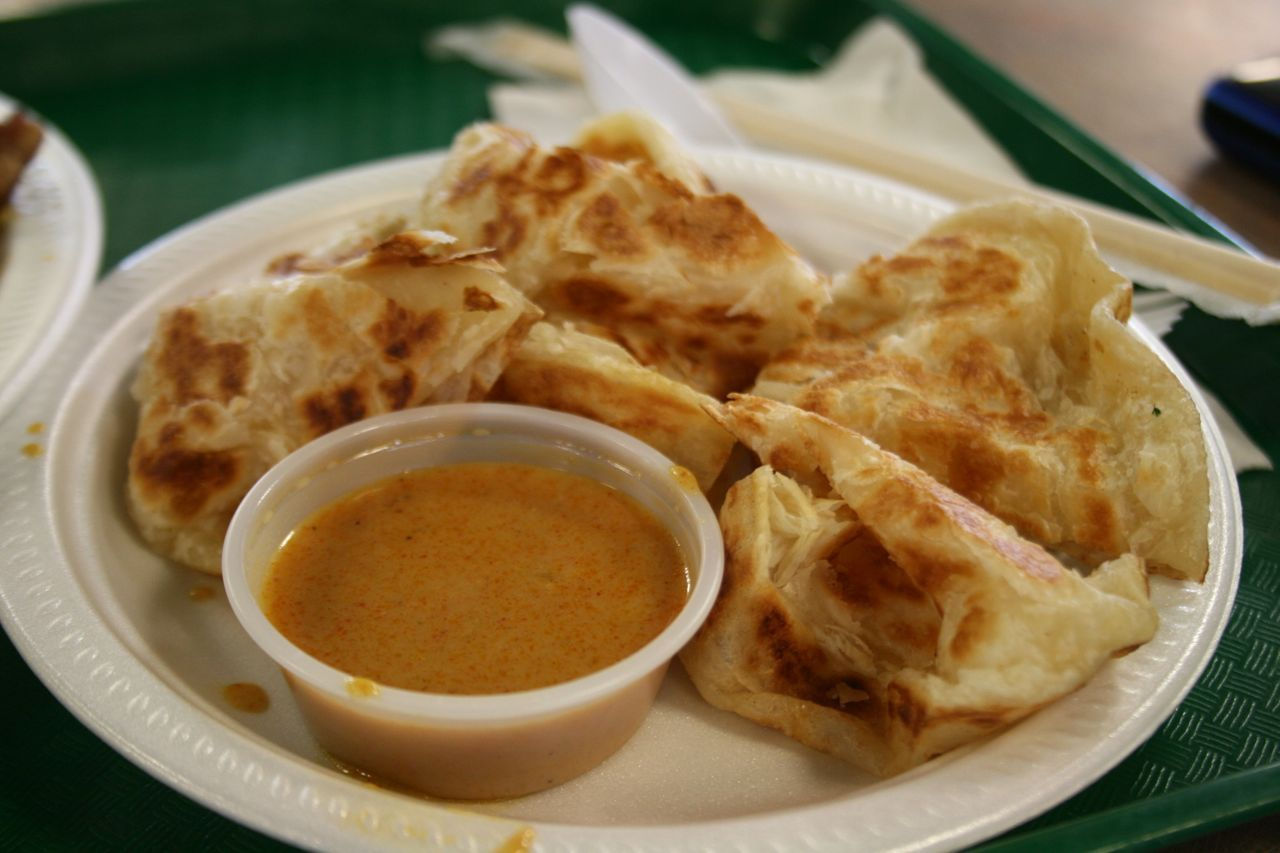 roti with curry sauce