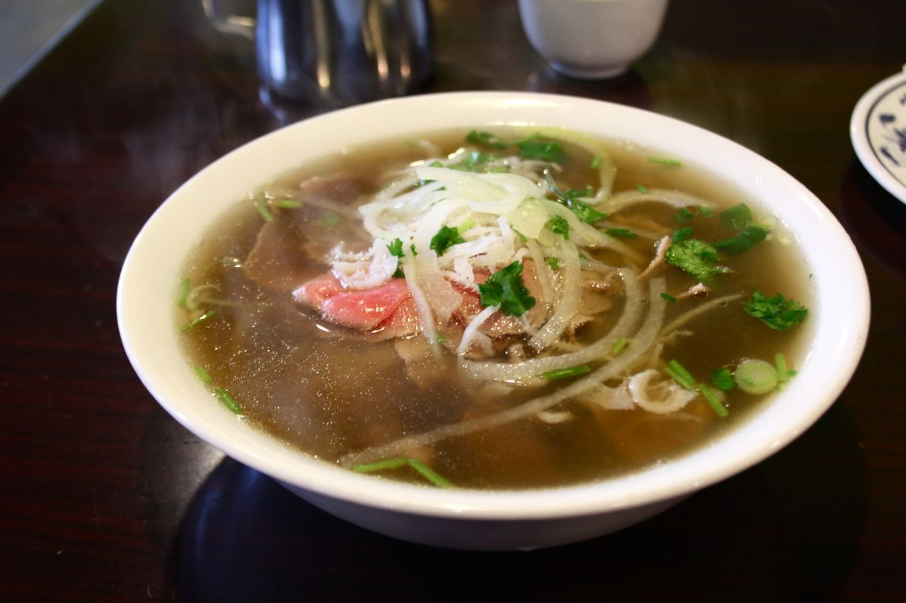 pho with rare beef and tripe at Pho Viet