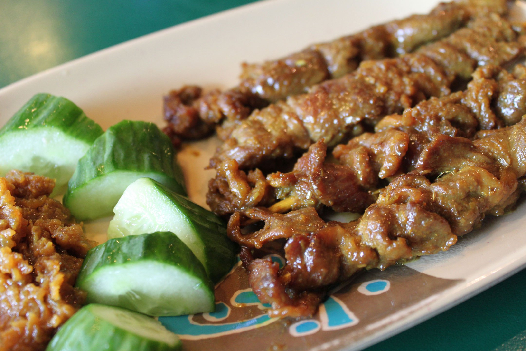 The Beef Satay at John 3:16 Malaysian Delights.