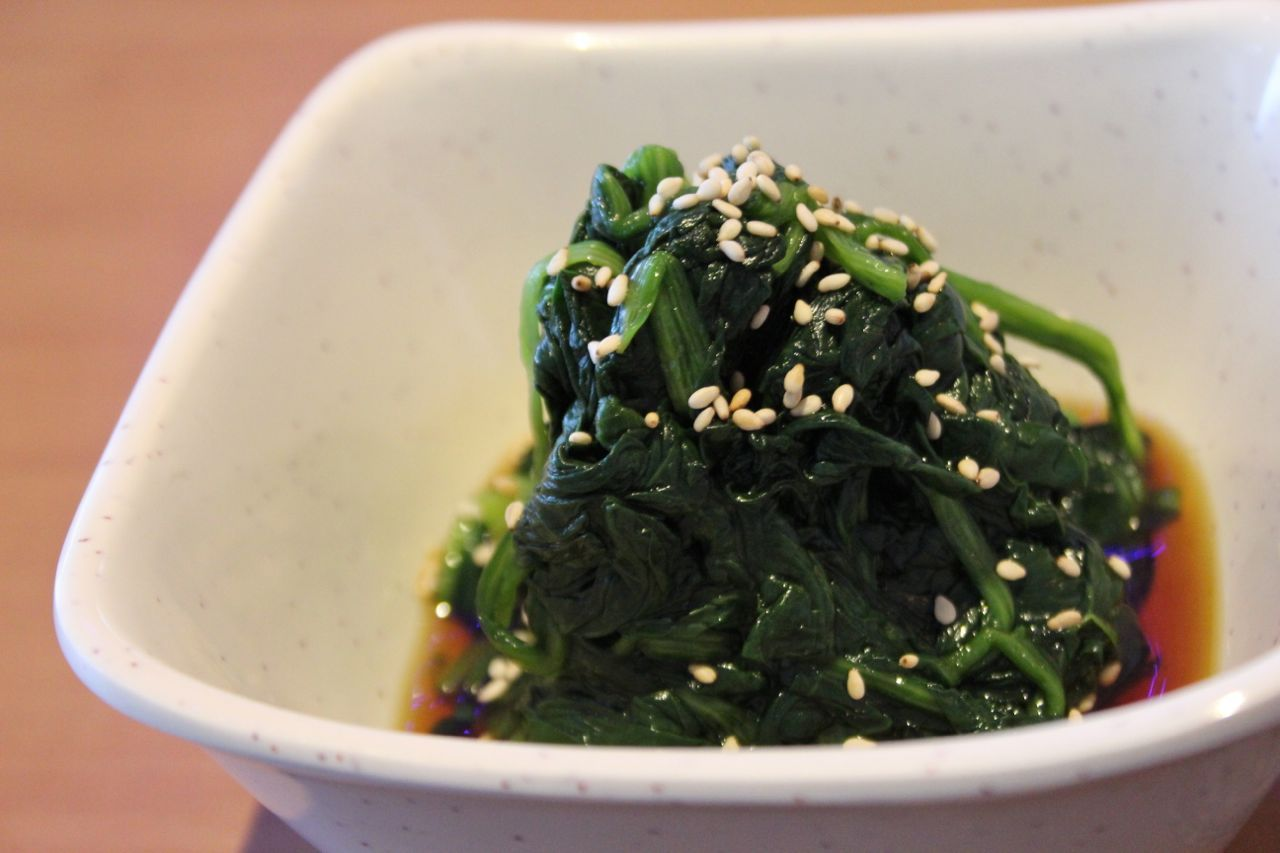 spinach in ponzu sauce
