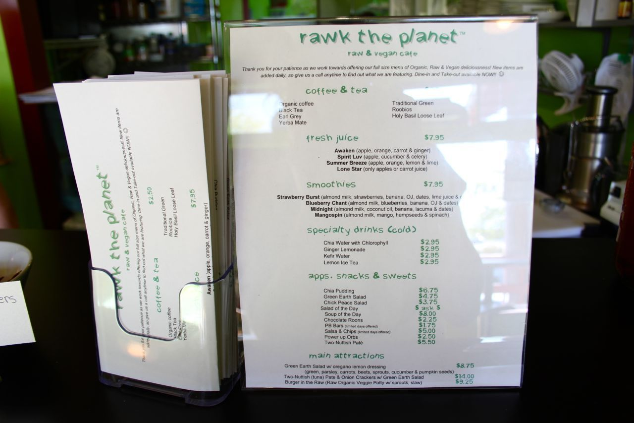 Rawk the Planet menu