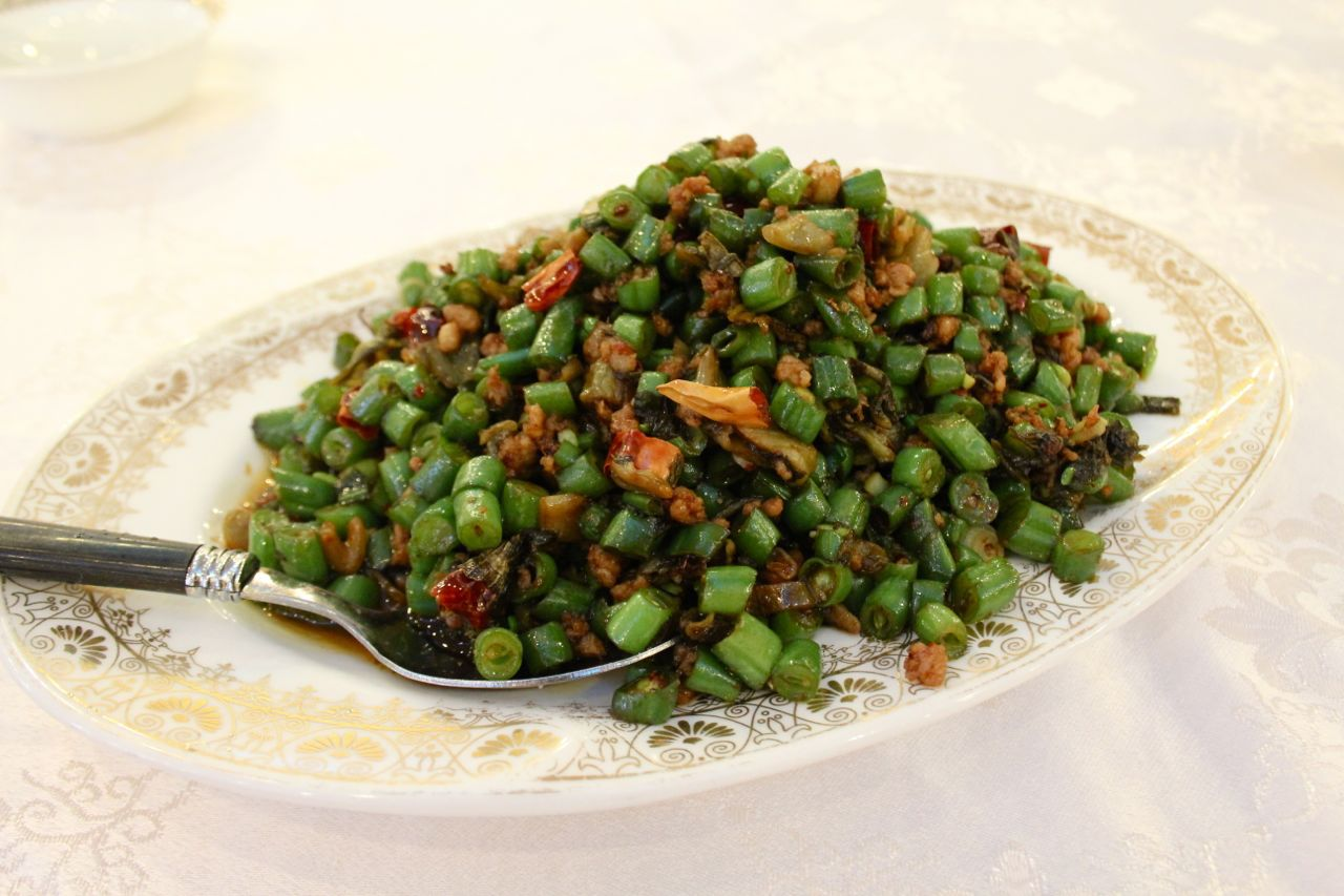 pickled green beans with pork