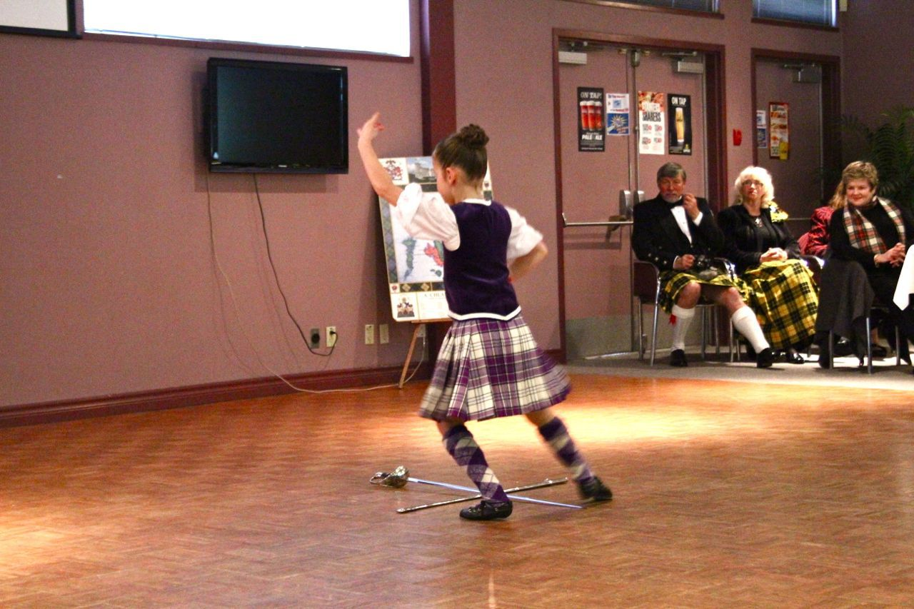 Highland dancer at Robbie Burns luncheon