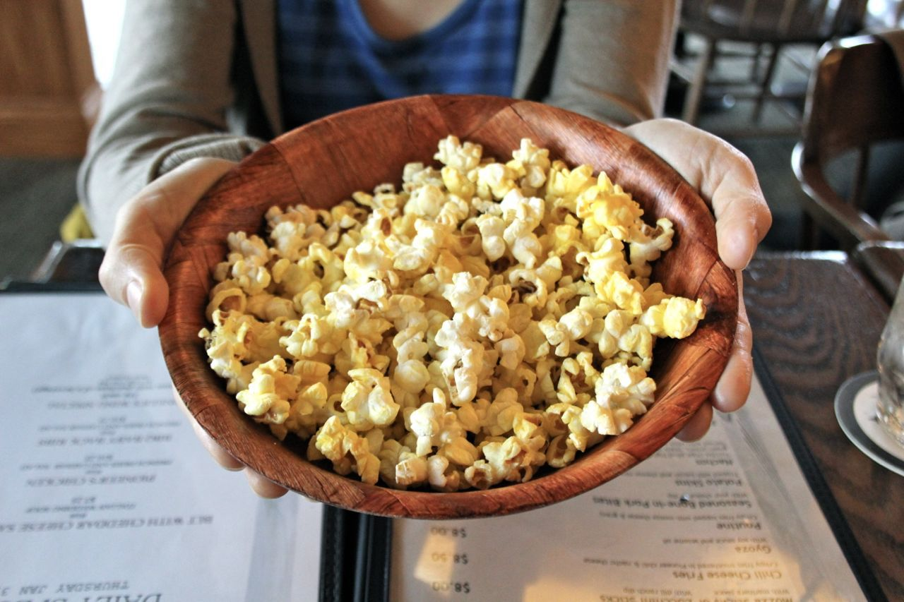 popcorn from Pioneer's Pub