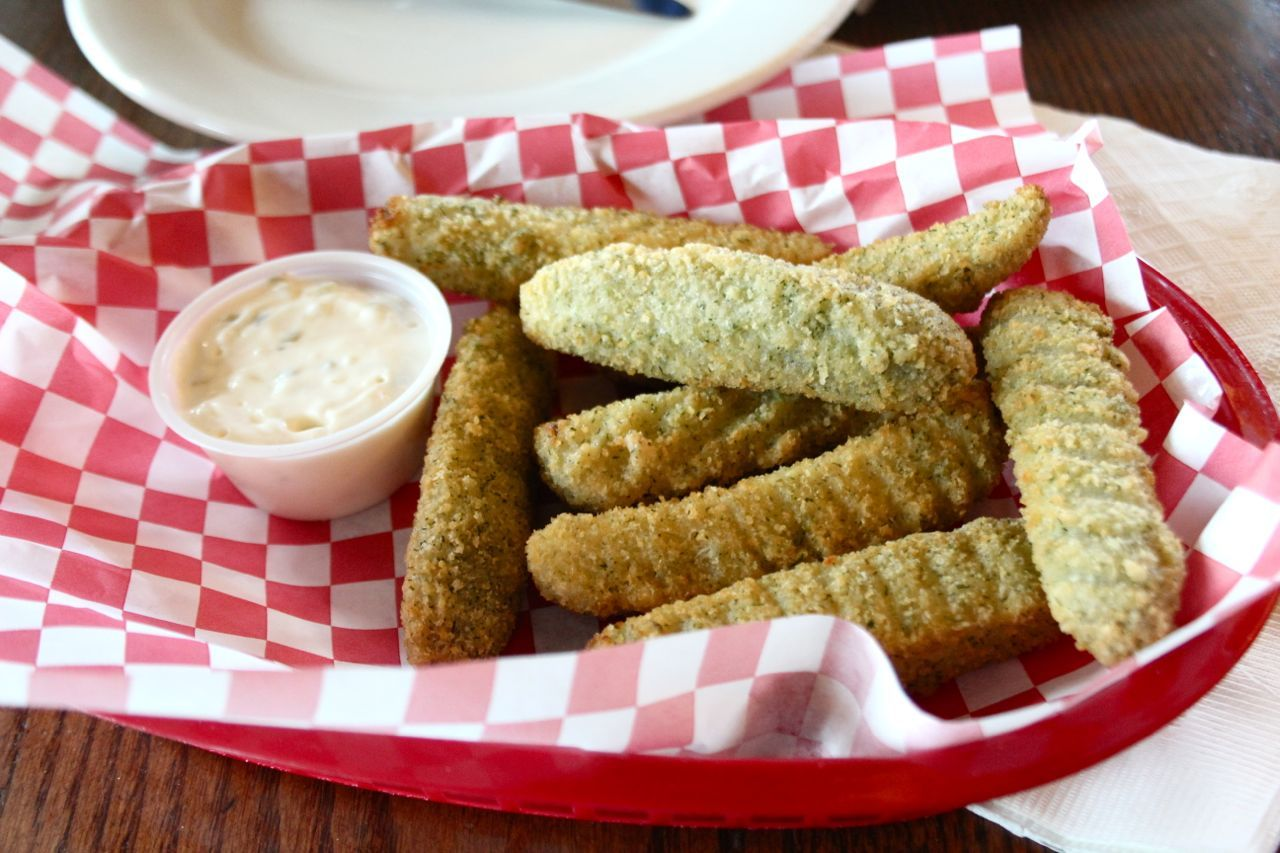 deep-fried pickle spears