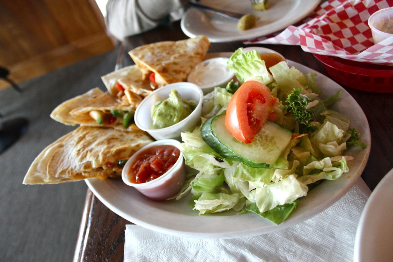 chicken quesadilla at Pioneer's Pub