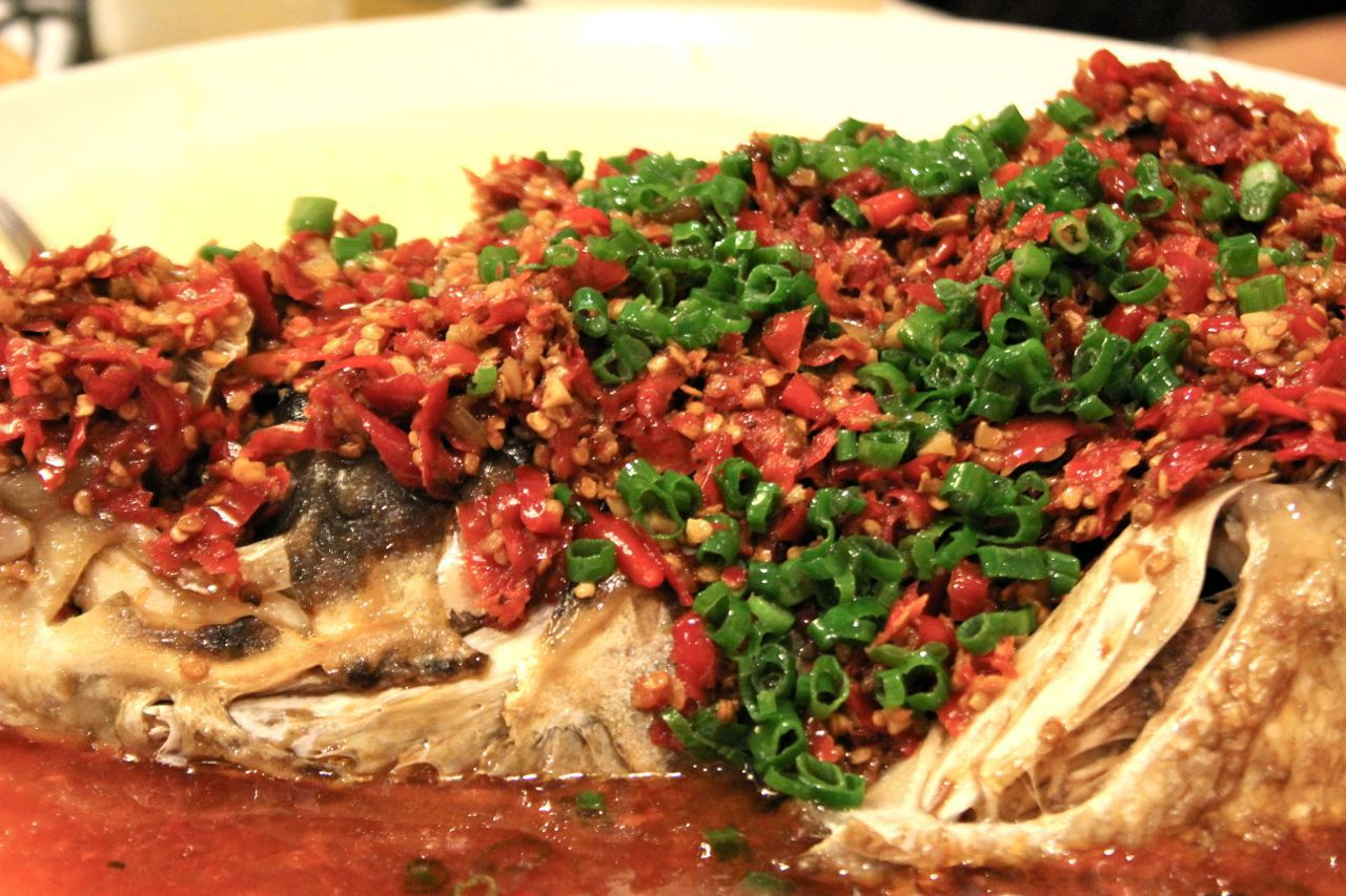 steamed fish with chili