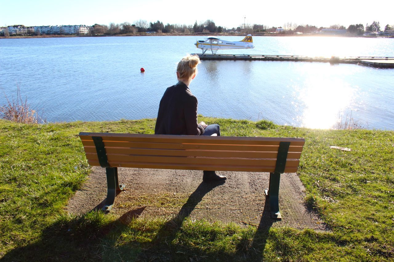 bench near river, Sea Island Richmond