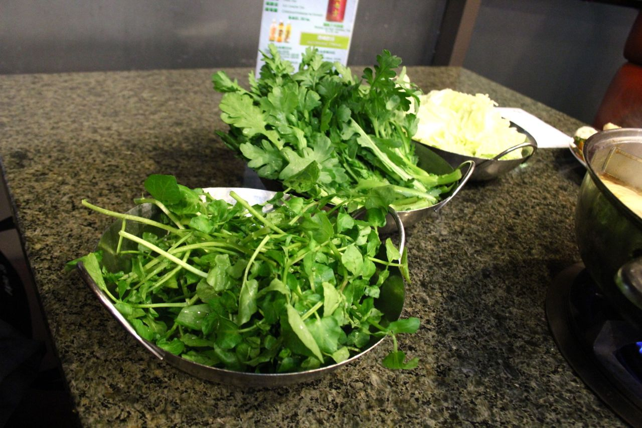 Chinese greens for hotpot