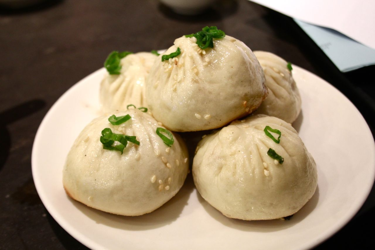 juicy pork buns, pan fried