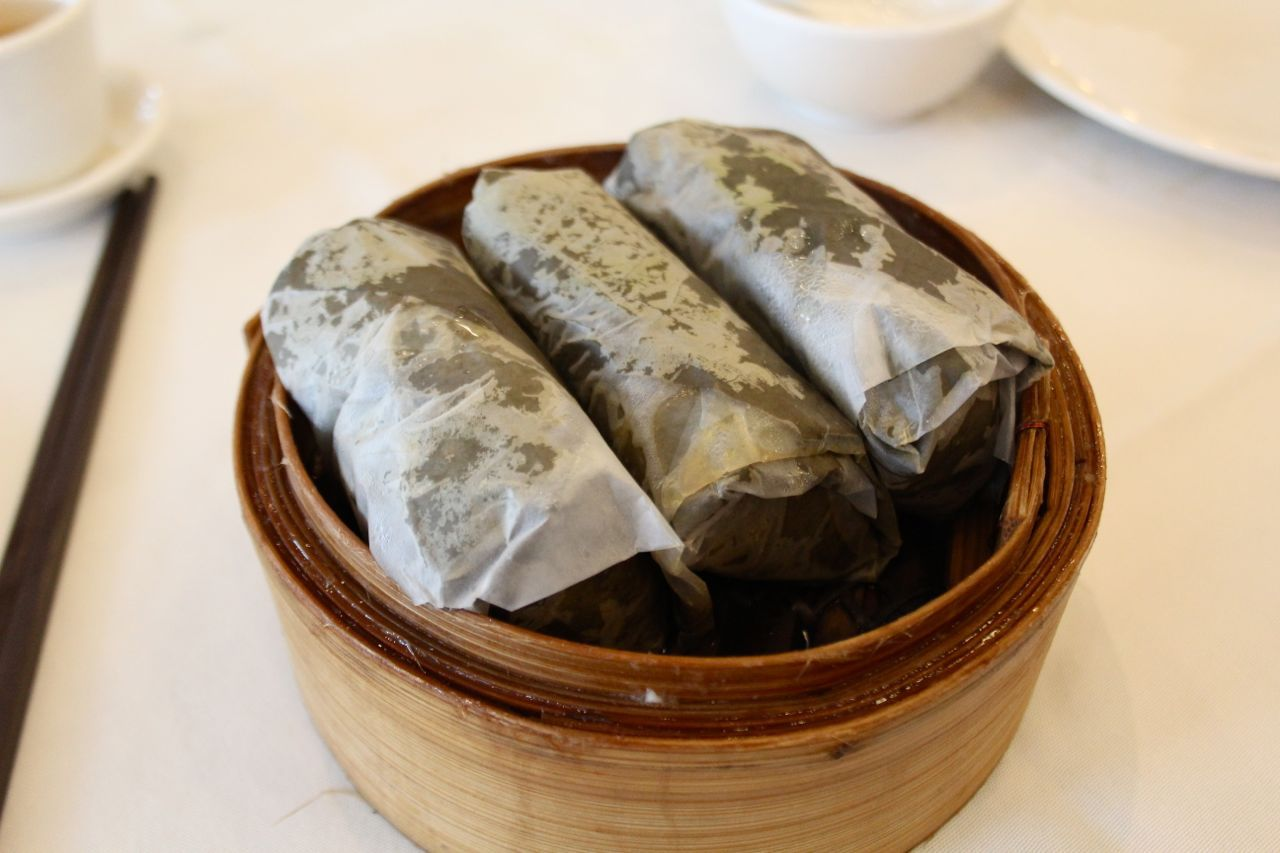 sticky rice in lotus leaves