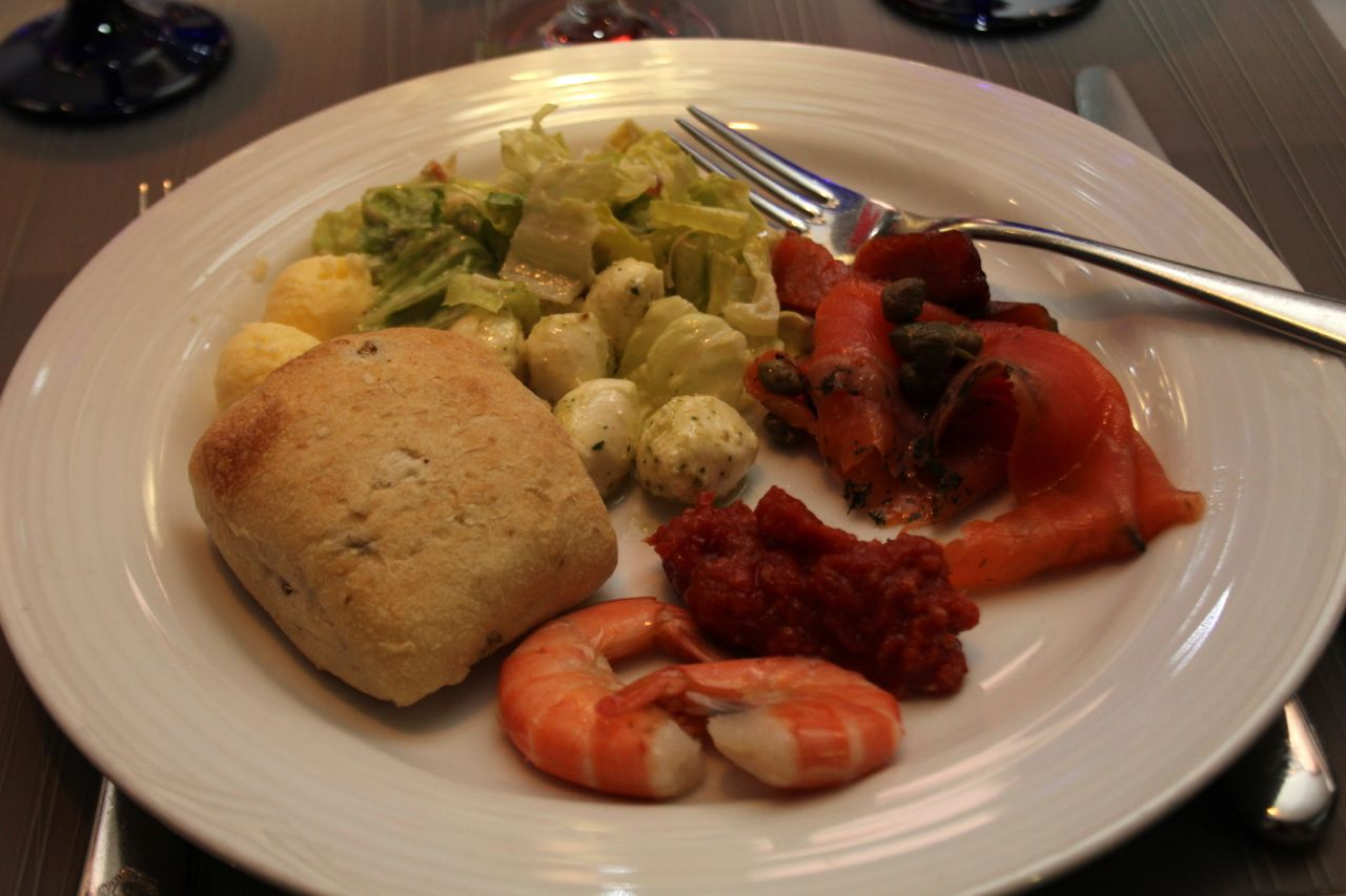 Plate from buffet at Fairmont YVR