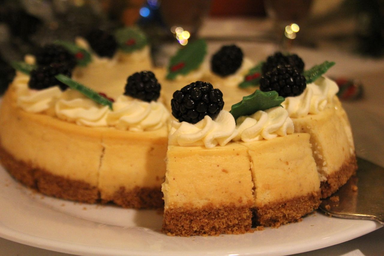 eggnog cheesecake at Fairmont YVR