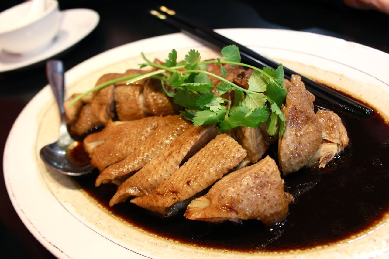 soy-marinated duck
