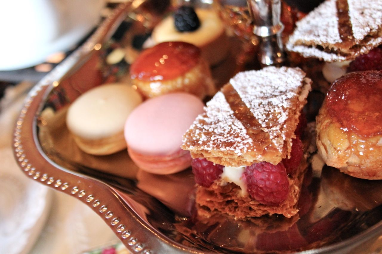 pastries at High Tea from