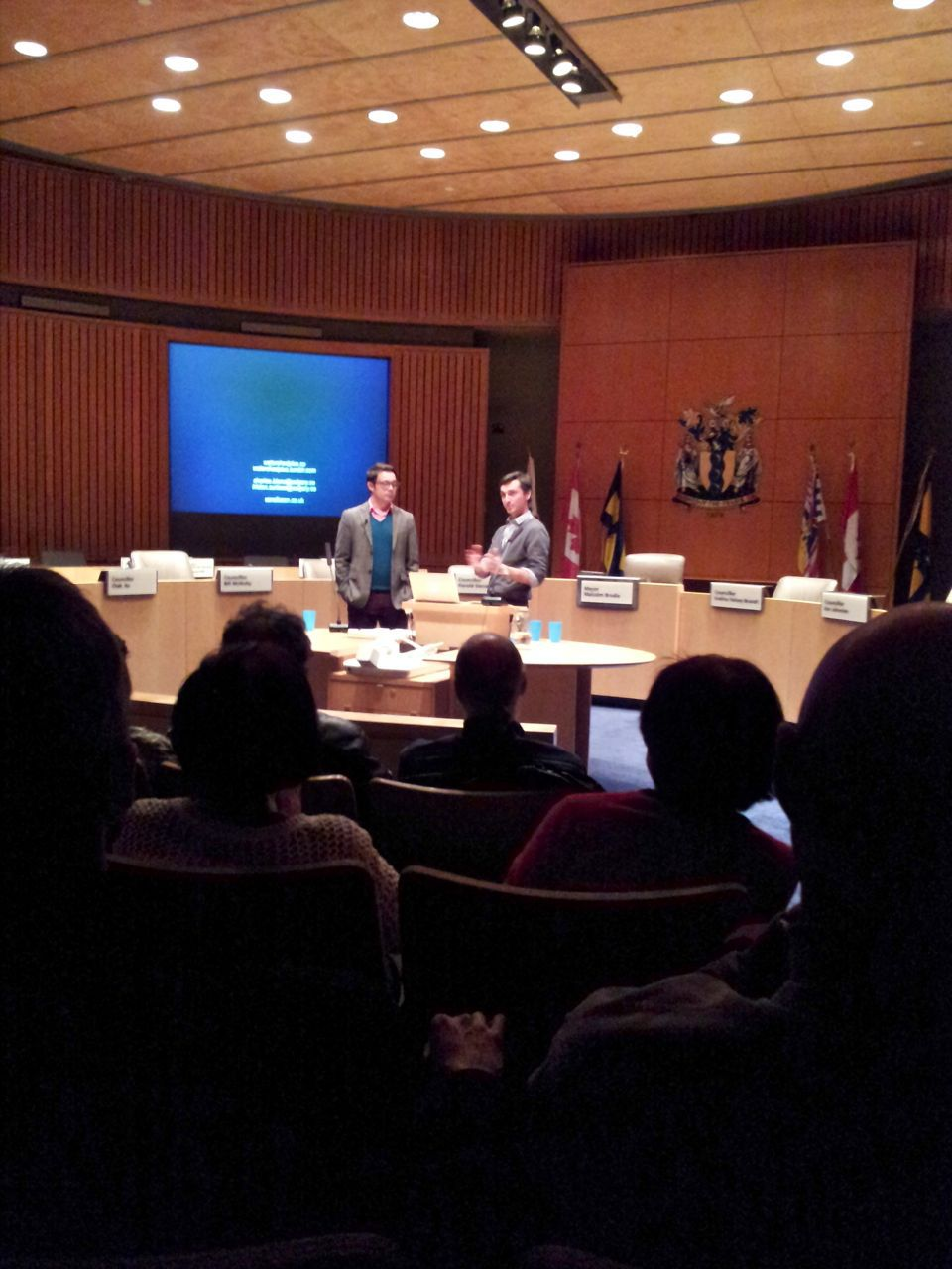 Sans Facon presenting at Richmond City Hall