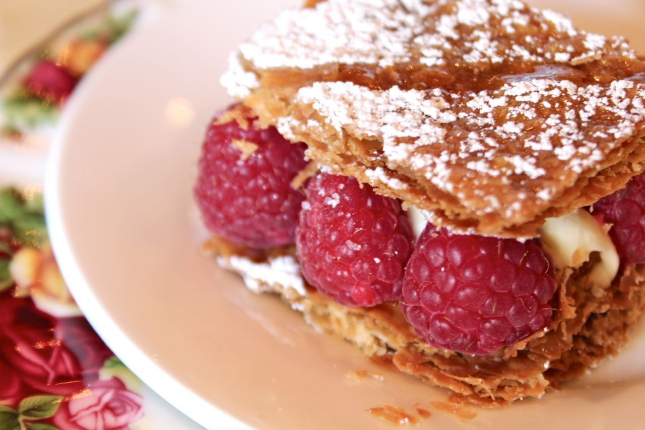 raspberry cream mille feuille