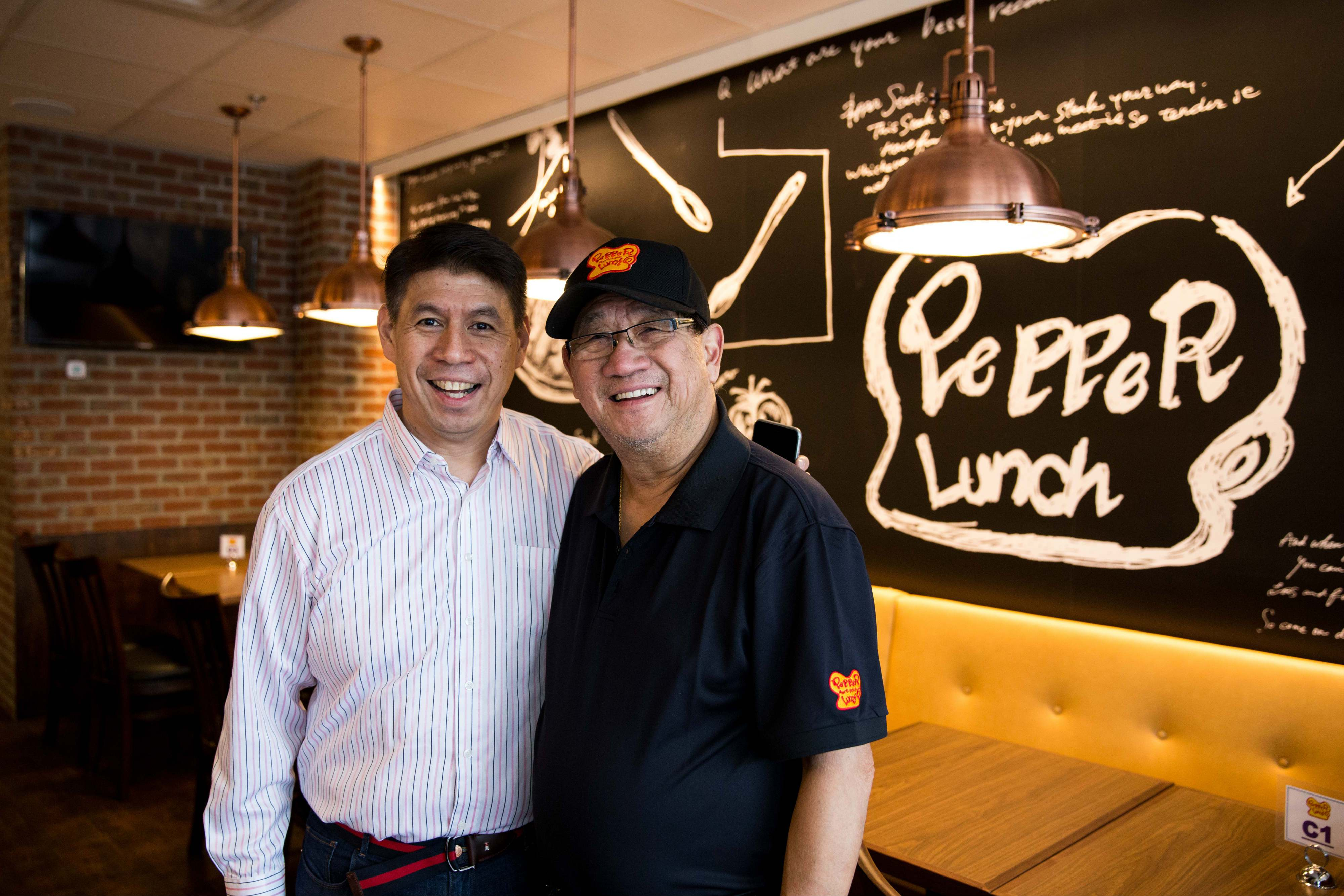 Chris and Denis Sy - Franchise owners of Pepper Lunch Canada_web
