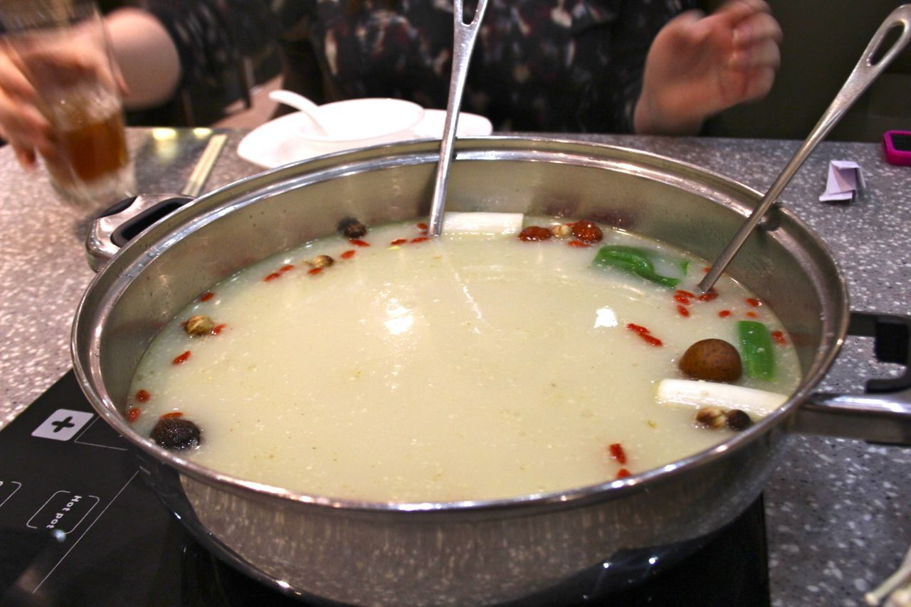House Special Original broth at Mongolian hot pot