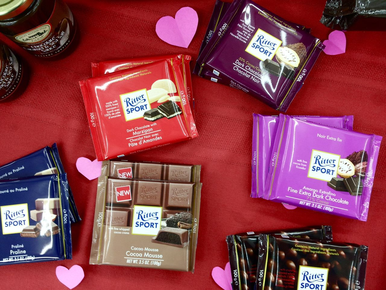 Ritter Sport chocolate bars at Galloway's