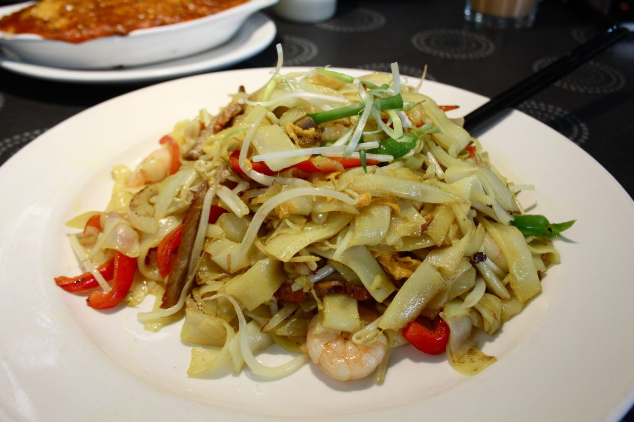 Malaysian rice noodles at Hollywood Steakhouse