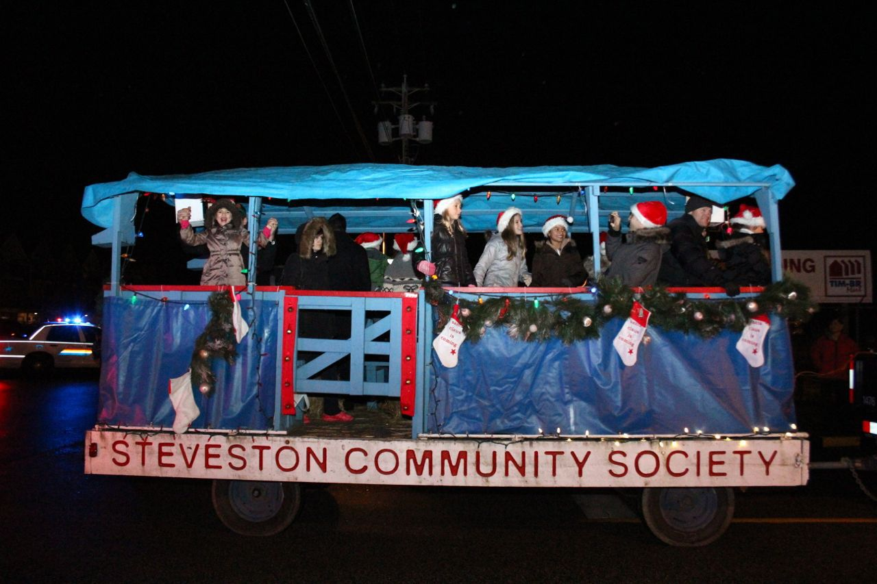Float in the Steveston Santa Claus Parade