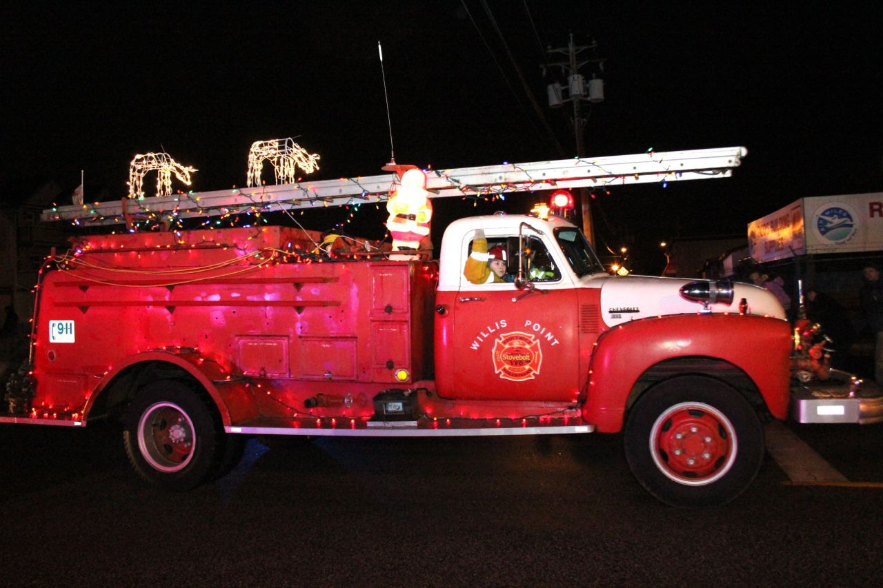 Firetruck in Steveston Santa Claus Parade