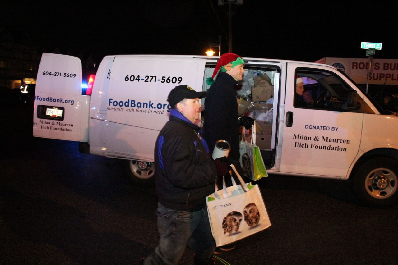 Richmond Food Bank at Steveston Santa Claus Parade