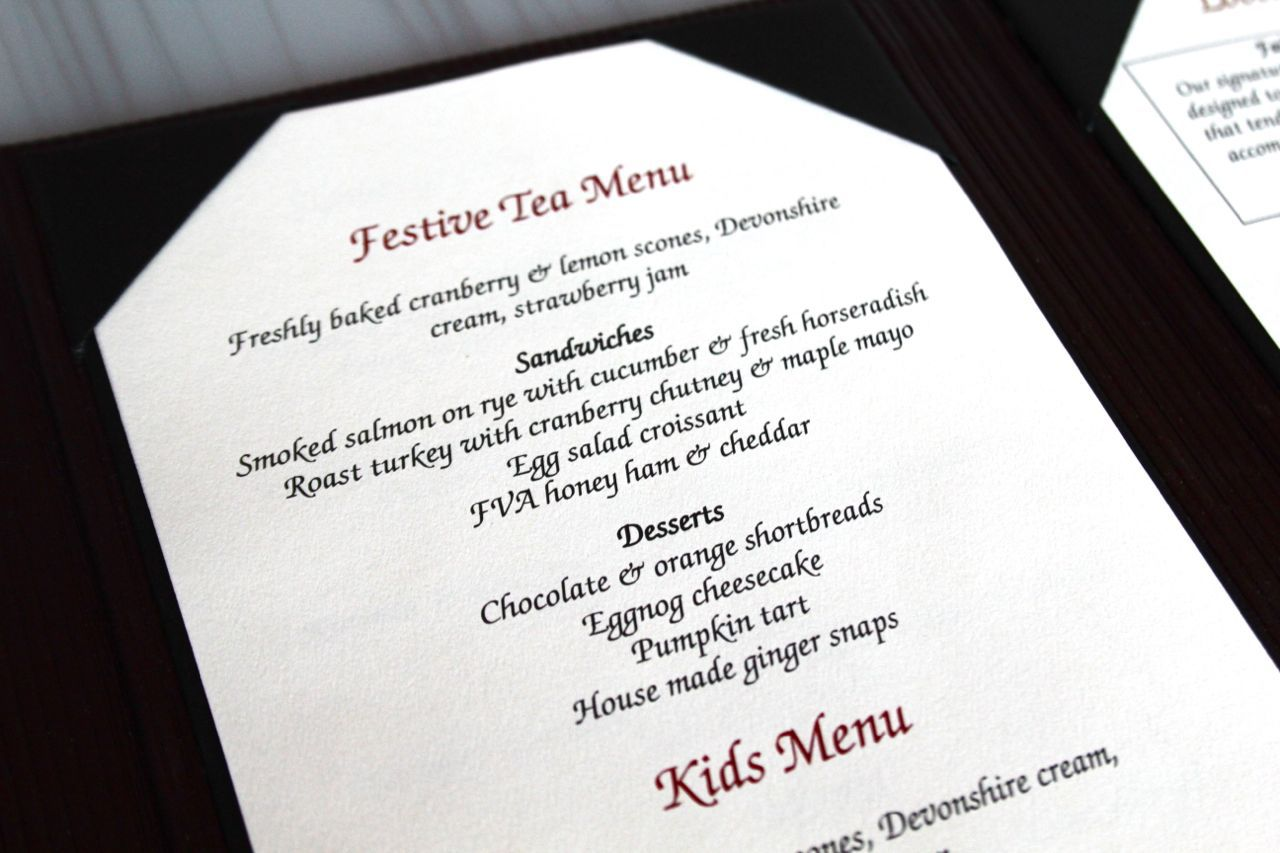 Afternoon Tea Menu at Globe @YVR