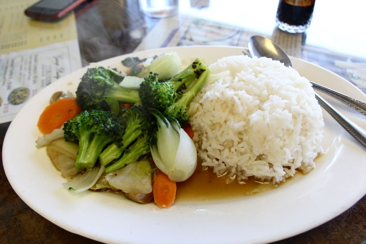 Seaview Cafe vegetables in black pepper sauce