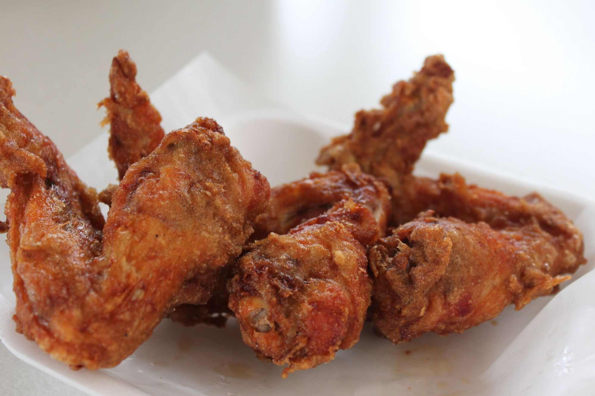 Deep fried wings; Photo Credit: Tara Lee