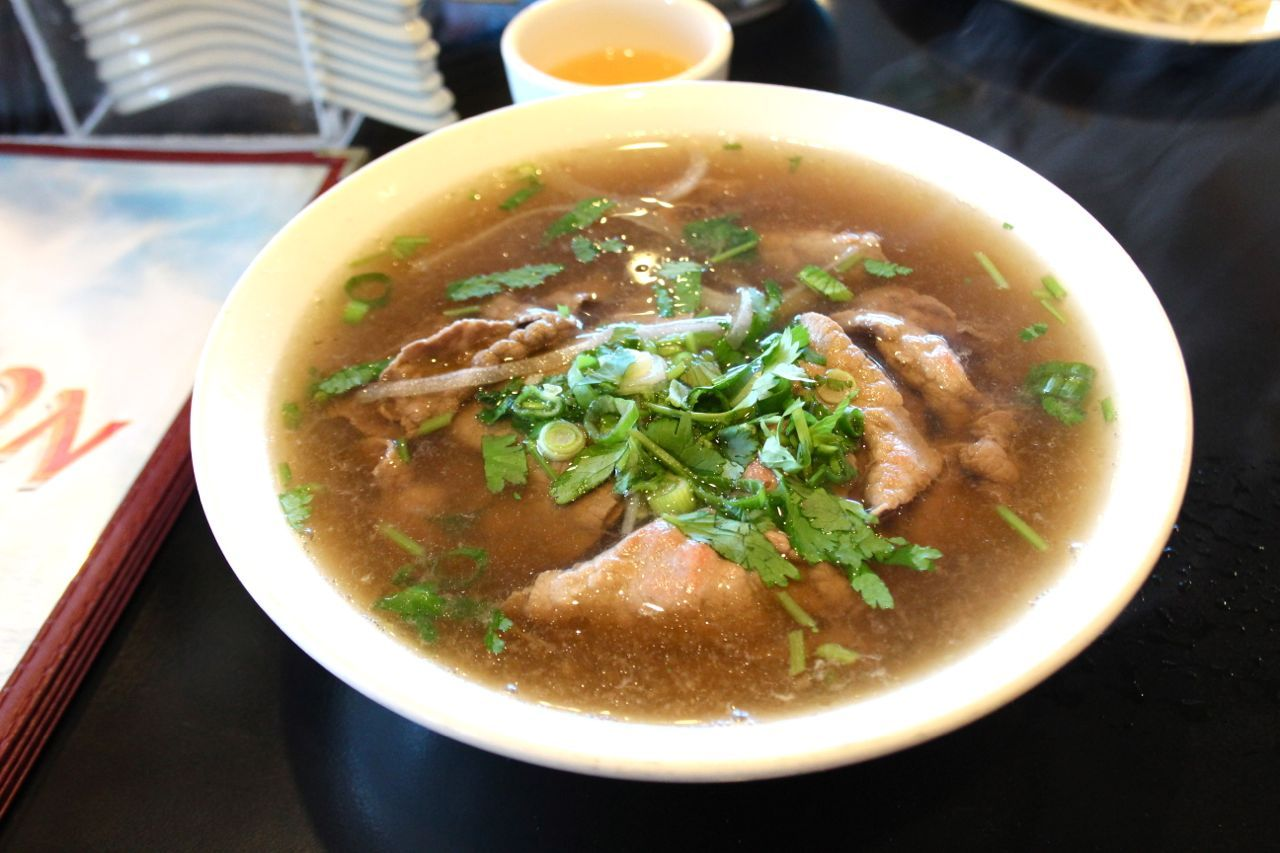 Pho with rare beef at Thai Son