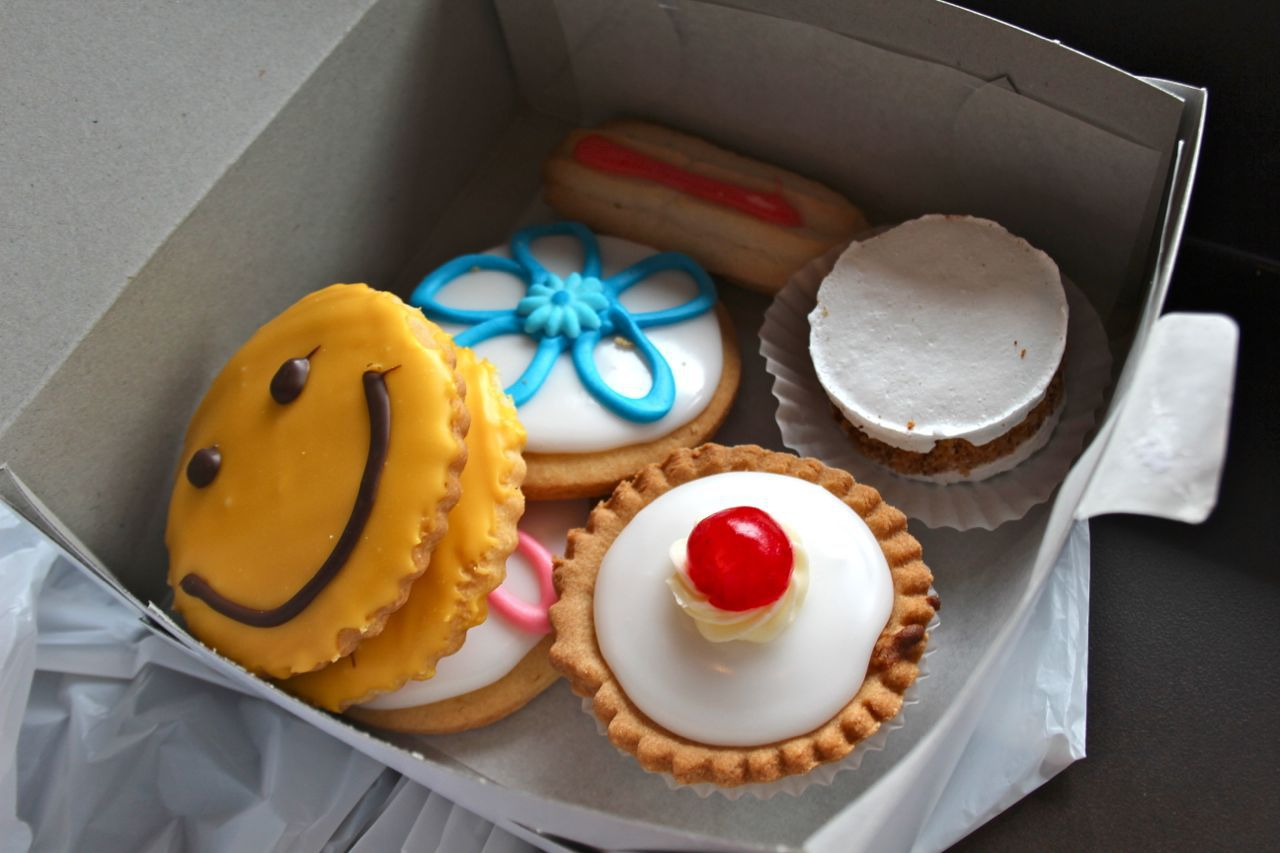 box of treats from Broadmoor Bakery